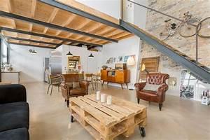 loft lyon 9 photos d39une ancienne imprimerie transformee With creer plan de maison 6 amenagement de combles avec creation dune mezzanine