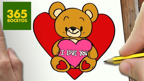 como dibujar osito corazon kawaii paso a paso dibujos kawaii faciles how to draw a