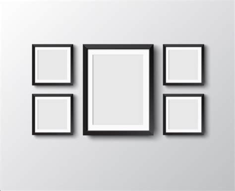 Photo Frames On Wall Black Photo Frame On Wall Vector Graphic 04 Download My