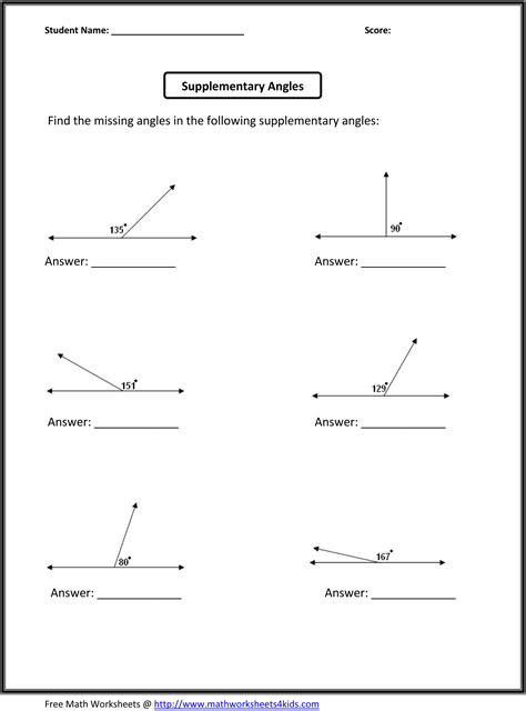 images  geometry angles worksheet  grade