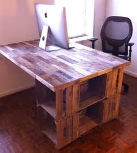 reduce reuse repurpose a recycled apple crate desk
