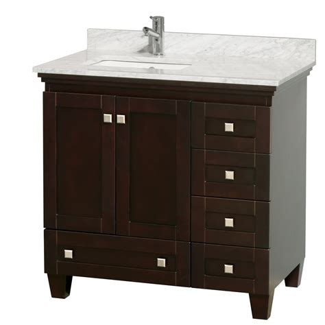24 inch white bathroom vanity acclaim 36 quot espresso bathroom vanity set white or