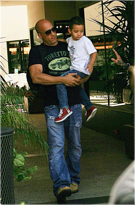 vin diesel takes  son  giuseppee franco  hair cut