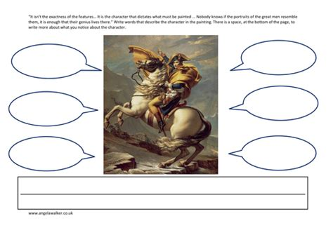 napoleon a history of art worksheet to infer character