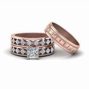 get our 14k rose gold trio wedding ring sets fascinating With gold wedding ring sets for her