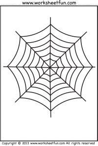 spider web coloring  halloween worksheet  images