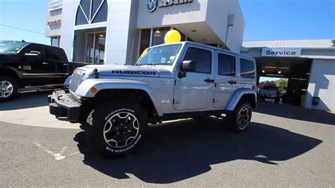 dodge jeep silver 2013 jeep wrangler unlimited rubicon silver stk dl673339