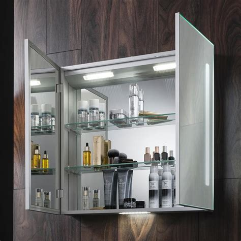 Mirrored Bathroom Cabinets by Bauhaus 700mm Led Illuminated Mirrored Cabinet