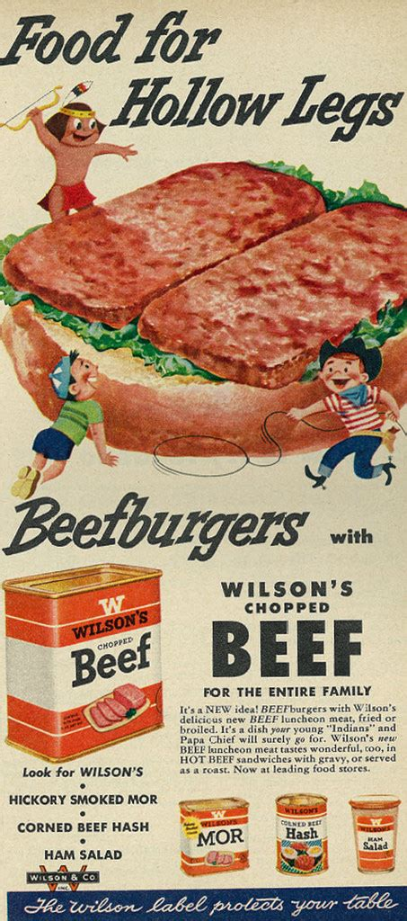 cuisine ad 1954 illustrated food ad wilson 39 s chopped beef quot food for flickr