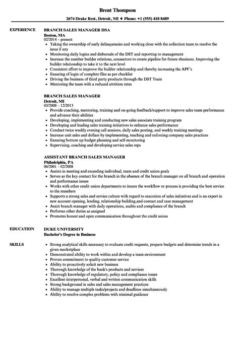 Branch Manager Resume by Resume For Branch Manager Sales Branch Manager Cv Sle