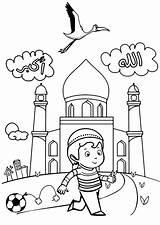 Coloriage Islam Coloring Enfants Ramadan Mosque Musulman Enfant Mosquee Buildings Architecture Petit Imprimer Muslim Printable Islamic Colorear Dessin Edificios Arquitectura sketch template