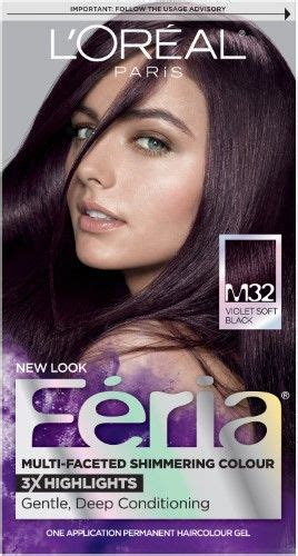 l oreal feria multi faceted shimmering colour m32 violet soft black products in 2019