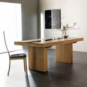 Table à Manger Verre Et Bois : tables espace d co design ~ Teatrodelosmanantiales.com Idées de Décoration