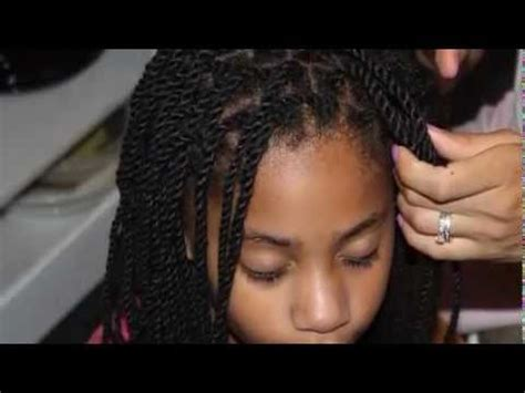natural hair style tutorial yarn twists youtube