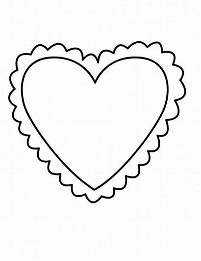 Valentine Coloring Heart Pages