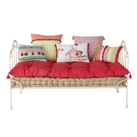 matelas  coussin en coton pinkplanet maisons du monde