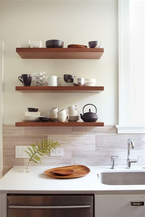 Kitchen Walnut Open Shelves