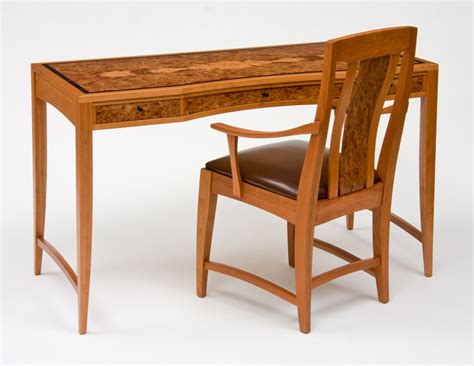 cherry and elm writing desk and chair