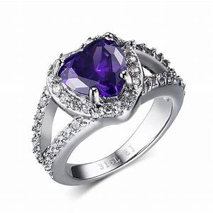 hot sale elegant platinum plated purple color cubic With 5 wedding rings for sale