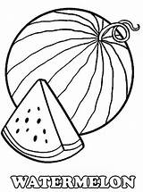 Watermelon Coloring Pages Slice Drawing Printable Melon Water Fruits Fruit Fresh Worksheets Kidsplaycolor Line Colouring Bestcoloringpagesforkids Sheets Preschool Draw Summer sketch template