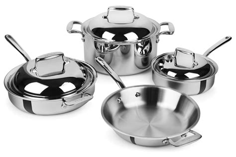 clad  cookware set  ply stainless steel  piece cutlery