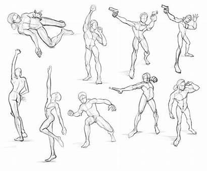 Poses Accion Character Sketching