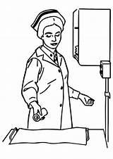 Nurse Coloring Pages Books Last sketch template