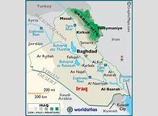 Iraq Large Color Map