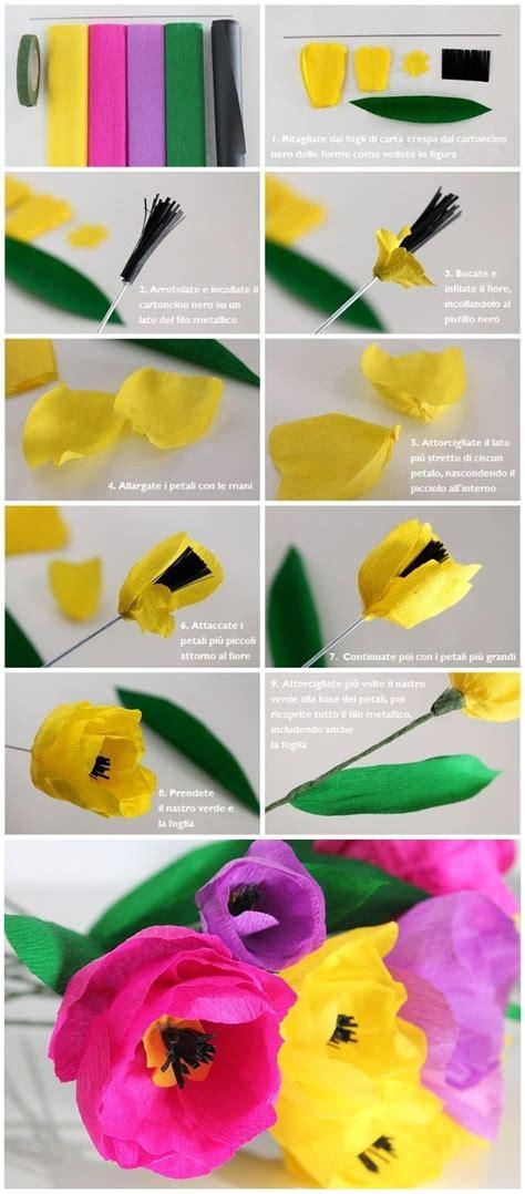 tutorial fiori di carta velina fiori di carta crespa tutorial fiori di carta crespa