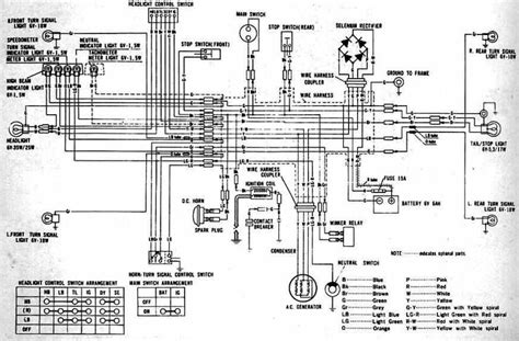 1973 Honda Xl175 Wiring Diagram For A by Honda Cl100 Motorcycle 1970 1973 Complete Wiring Diagram