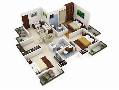 3d Plans Plan Floor Bedroom Designs Tiny