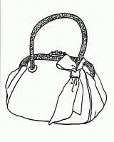 Purse Handbag Coloring Pages Tassen Kleurplaten Template sketch template