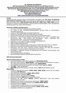 Tp security cv for Sap security consultant resume samples
