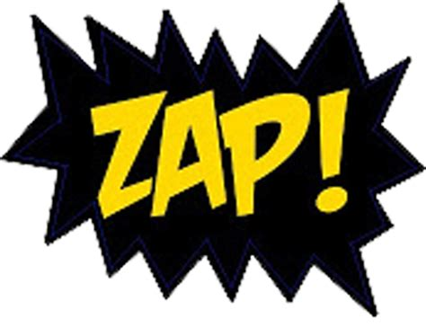 zap clipart black and white words clipartion