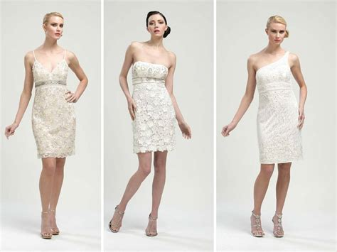 Short White Wedding Reception Dresses By Sue Wong