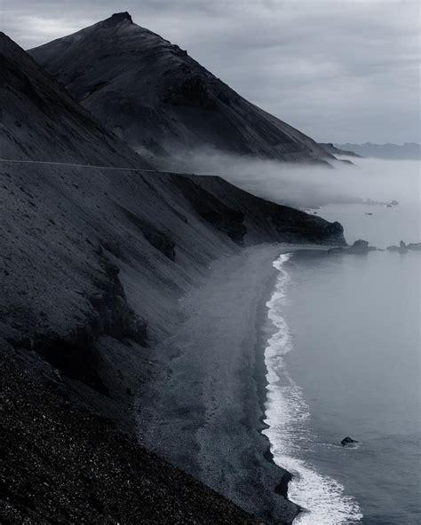 eastern coast  iceland iceland fog nature