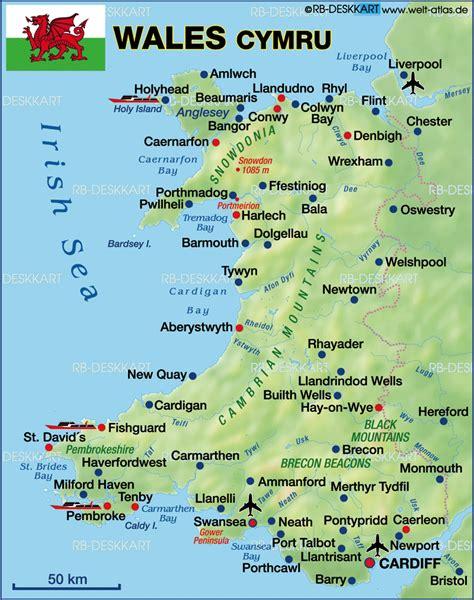 map  wales united kingdom  uk pinterest