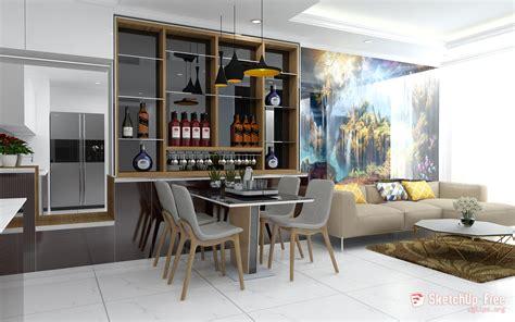 Sketchup Living Room Model by 1471 Interior Livingroom Sketchup Model Free