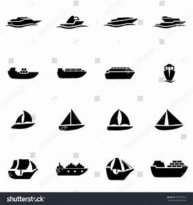 Vector Black Ship And Boat Icon Set. - 328774307 ...