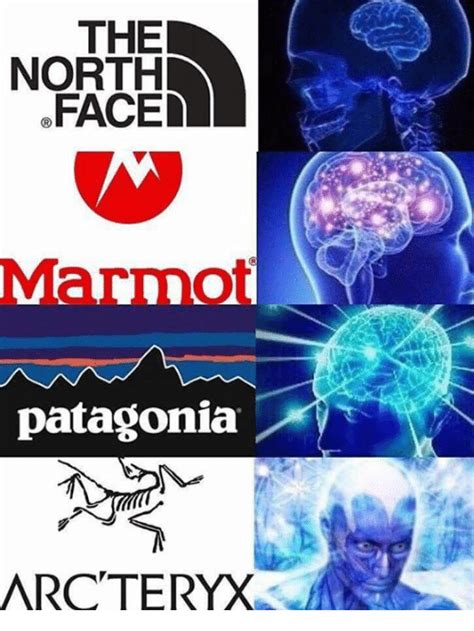 North Face Jacket Meme - the north faced patagonia arcteryx north face meme on me me