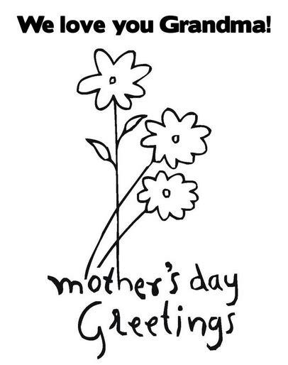 printable grandma mothers day coloring page coloringpagebookcom