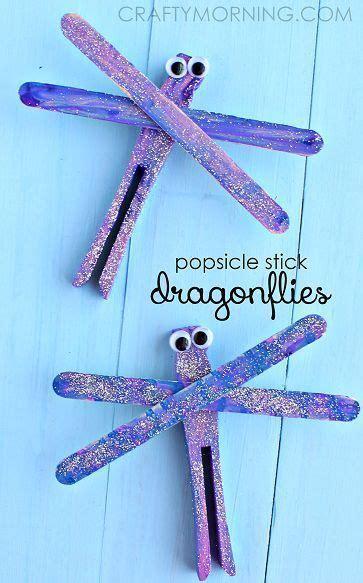 popsicle stick dragonfly spring craft  kids spring