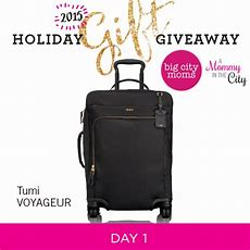Holiday Gift Giveaway Day 1 Tumi Voyageur Carryon  A Mommy In The City  A Mommy In The City