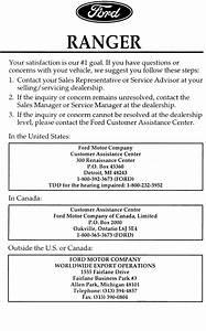 Ford Automobile Ranger User Guide