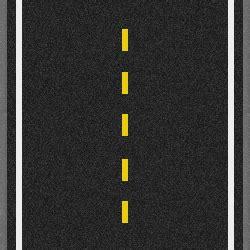 single broken yellow  pavement markings