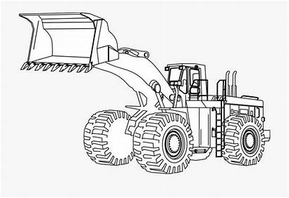 Coloring Pages Engineering Equipment Construction Machine Backhoe