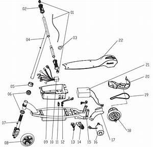 Razor E90 Electric Scooter Parts