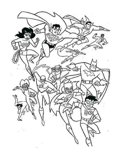 superheroes coloring pages   print