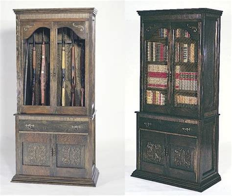 Bookcase With Gun Cabinet by Gun Cabinet Bookcase Building Plans Only At Menards 174