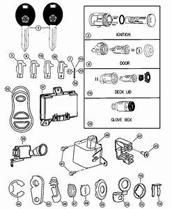 Chrysler Pt Cruiser Link  Key Cylinder To Actuator